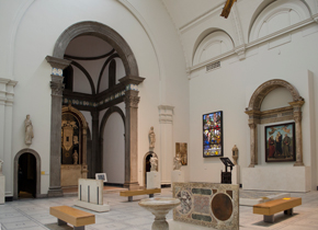 Figure 1 - 'The Chancel', Gallery 50B, Medieval & Renaissance Galleries, V&A, 2013. Photograph: Donal Cooper