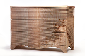 Chest of drawers: 'George', 2008/2013, Great Britain (London, Designed and made by Gareth Neal (1974–, Ash, Artist's proof from edition of five