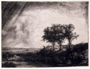 The Three Trees, Rembrandt, 1643, etching. © Victoria and Albert Museum, London