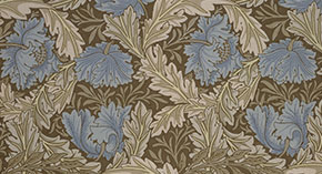 Designs for 'Fruit' and 'Wreath' wallpapers by William Morris, 1862-6