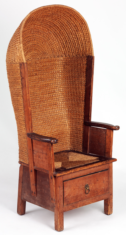 'Hooded Chair', designed and probably made by David Kirkness (1855–1936),  1890s. Museum no. W.1-2012 - David Kirkness - Victoria And Albert Museum