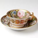 Teacup and saucer, unknown maker, about 1815-20. Museum no. C.717&amp;A-1935