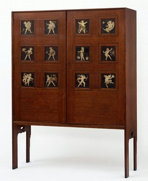 Cabinet, Lewis Foreman Day, about 1888. Museum no. CIRC.349-1955