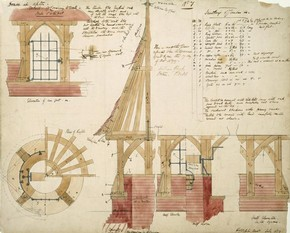 Details of covering to a well for Red House, Philip Speakman Webb, 1859. Museum no. E.64-1916