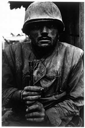 Don McCullin (born 1935), Shell-shocked Soldier, Hue, 1968, Gelatin silver print, Museum no. Ph.1280-1980