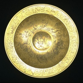 Spice Bowl (from a set of six), silver-gilt, London, 1573-4, mark of Roger Flynt. Museum no. M.55-1946, © Victoria and Albert Museum, London