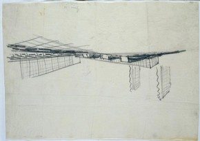 Design for the White City Housing Scheme, drawing, Erich Mendelsohn, 1935. Museum no. E.677-1993