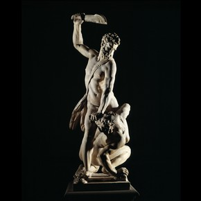 Marble statue of Samson slaying a Philistine, by Giovanni Bologna, called Giambologna (15291608), Florence, Italy, about 1562. Museum no. A.7-1954. Purchased with the assistance of The Art Fund