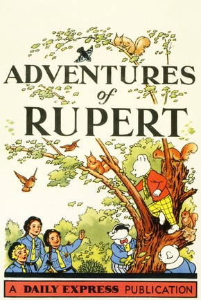 Title Page of Adventures of Rupert, published by The Daily Express, London, England, UK, London. RENIER Collection