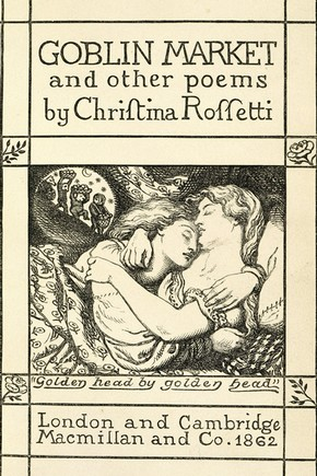 Illustration by Dante Gabriel Rossetti for 'Goblin Market and other poems', by Christina Rossetti, UK, 1862. Museum no. NAL 55.D.15