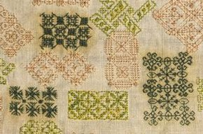 Spot Sampler, about 1600-1650. Museum no. T.230-1929. Given by Mrs Lewis F Day