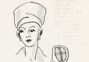 Marjorie Field (Field Rhoades), fashion design, London, 1940s. Museum no. E.430-2005