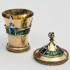 Merode Cup, silver gilt with plique-à-jour enamels, France, early 15th century, 403-1872
