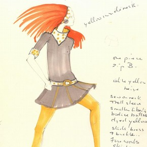 2) Mary Quant (b.1934), fashion design, London, mid 1960s. Museum no. E.525-1975