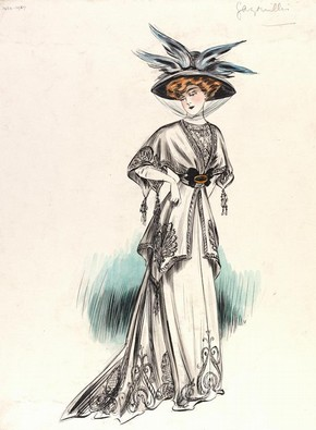 Jeanne Paquin (1869-1936), fashion design, Paris, 1907. Museum no. E.1432-1957