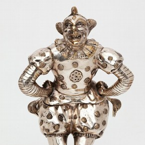 Cruet in the shape of Joseph Grimaldi, 1850. Museum no. S.913-1981, Main Galleries, Theatre Museum