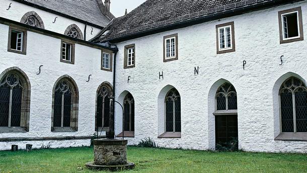 The cloister at Mariawald Abbey today. Photograph by Dagmar Täube