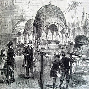 India Museum at South Kensington, London. From Illustrated London News, 1880