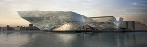 Kengo Kuma and Associates' winning design for V&A at Dundee