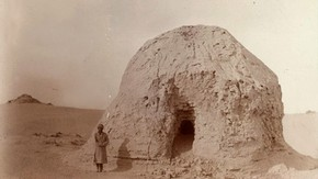 Miran stupa ruin, Sir Marc Aurel Stein, 1907. Photo 392/26(256), © The British Library Board