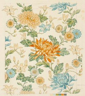 Figure 1 - Design for wallpaper, Silver Studio, 1890 (SD8791A). Museum of Domestic Design & Architecture