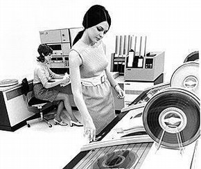 Figure 2 - IBM 3410 and Magnetic Tape Subsystem, introduced in 1971, courtesy of IBM