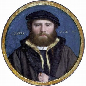 Unknown man, possibly Hans of Antwerp, attributed to Holbein. Museum no P.158-1910