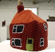 'Knitted Homes of Crime', Freddie Robins, 2002. © Douglas Atfield