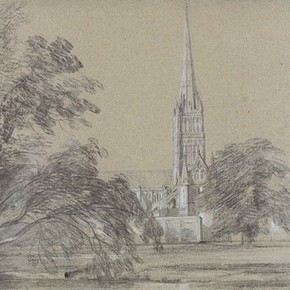 'Salisbury Cathedral' by John Constable, 1811, Museum no. 292-1888