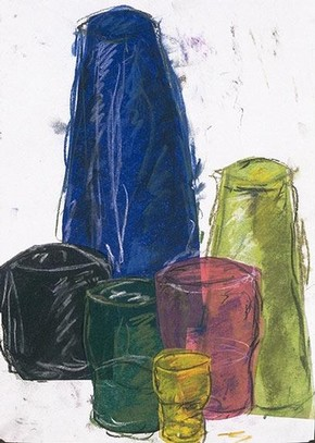 Drawing done in the Glass gallery, Year 11 student, Walthamstow School for Girls