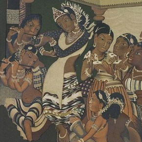 Figure 3. Detail from Ajanta painting by Robert Gill. Museum no. IS.53-1885. Photograph by V