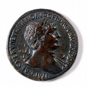 Roman medal with patina, 105 AD. Museum no. A.708-1910