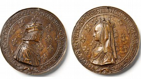 Louis XII and Anne of Brittany, 1499. Museum no. 2381-1855