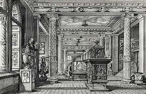 The Ceramics Galleries in their original splendour, 1875