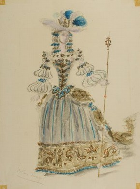 Costume for the Queen in 'The Sleeping Beauty', Oliver Messel, 1946, Museum no. S.12-2006