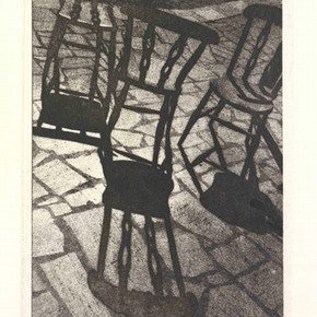 Margaret Macdonald Casson, 'Three Chairs', photo etching, about 1989-1994