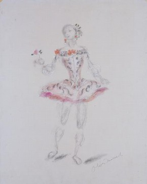 Costume for Princess Aurora in Act I of Marius Petipa's Ballet 'The Sleeping Beauty', London, 1946. Museum no. S.55-1992