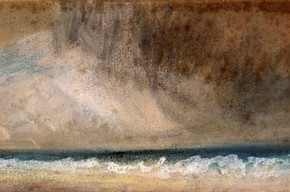 Joseph Mallord William Turner, 'Study of Sea: Stormy Sky'. Museum no. P.21-1938