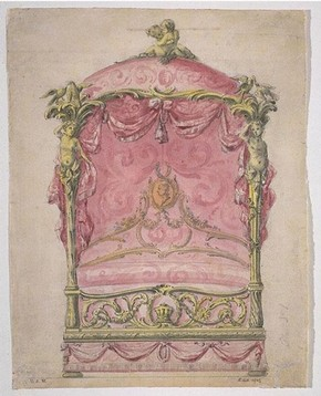 John Linnell, design for a State Bed, about 1765. Museum no. E.145-1929