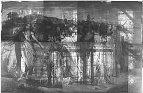 X-ray photograph of Christ's Charge to Peter by Raphael