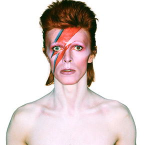 Album cover shoot for Aladdin Sane, 1973. Photography by Brian Duffy © Risky Folio Inc and (under license from Chris Duffy) Duffy Archive Limited