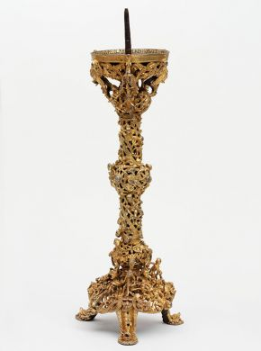'Gloucester Candlestick', England, early 12th century, gilded copper alloy. Museum no. 7649-1861, © Victoria and Albert Museum, London