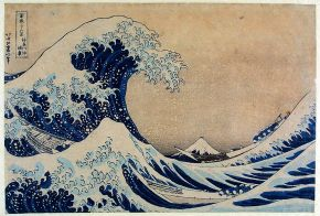 Woodblock print, 'Thirty-six Views of Mount Fuji: The Great Wave off the Coast of Kanagawa', Katsushika Hokusai, about 1831. Museum no. E.4823-191, © Victoria and Albert Museum, London