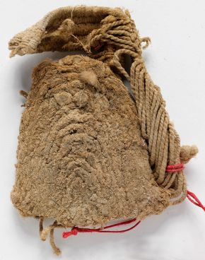 Shoe fragment, Darabzandong, China, 700-1000, plant fibre. Museum no. LOAN:STEIN.109, © Victoria and Albert Museum, London. On loan from the Government of India and the Archaeological Survey of India