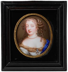 Jean Petitot, portrait of Frances Teresa Stuart, 1669, painted in enamel on gold. Museum no. P.64-1924, © Victoria and Albert Museum, London