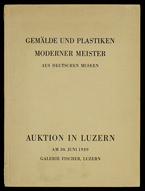 'Catalogue of the auction in Lucerne, 30 June 1939. © Victoria and Albert Museum, London