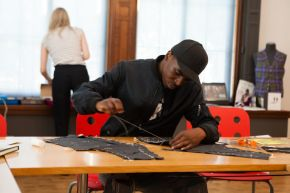 Participant in the CreateFutures Menswear course
