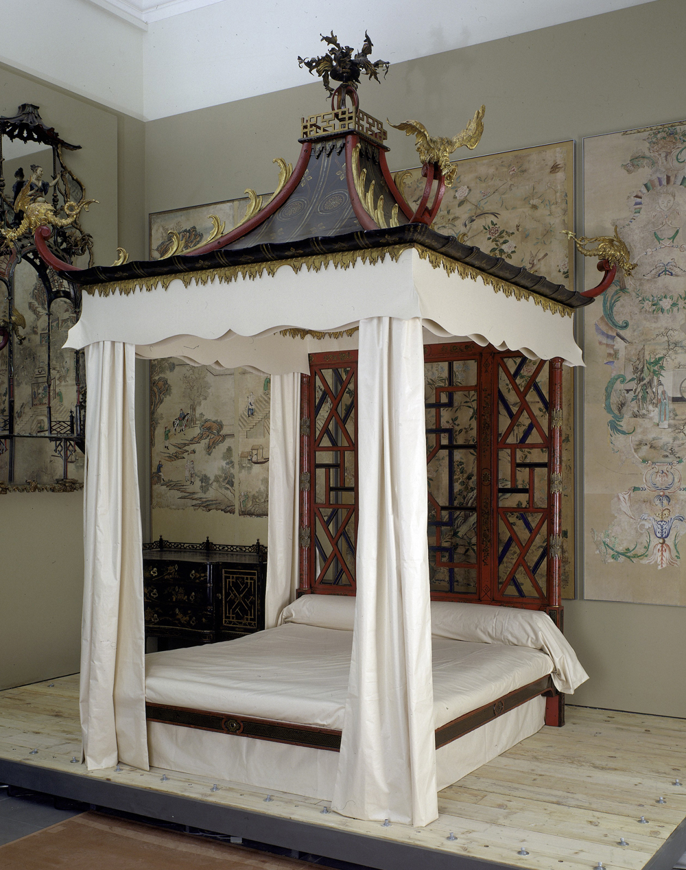The Badminton Bed John Linnell William About 1754 Museum No W 143 1 To 26 1921