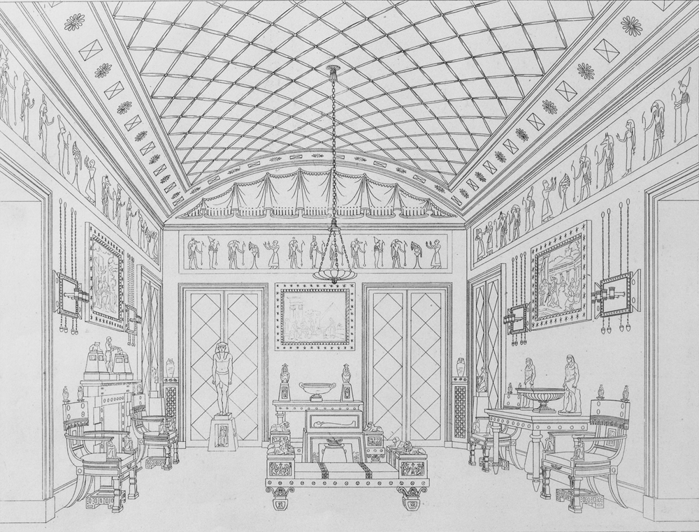 Thomas hope the regency style victoria and albert museum for Greek interior design history