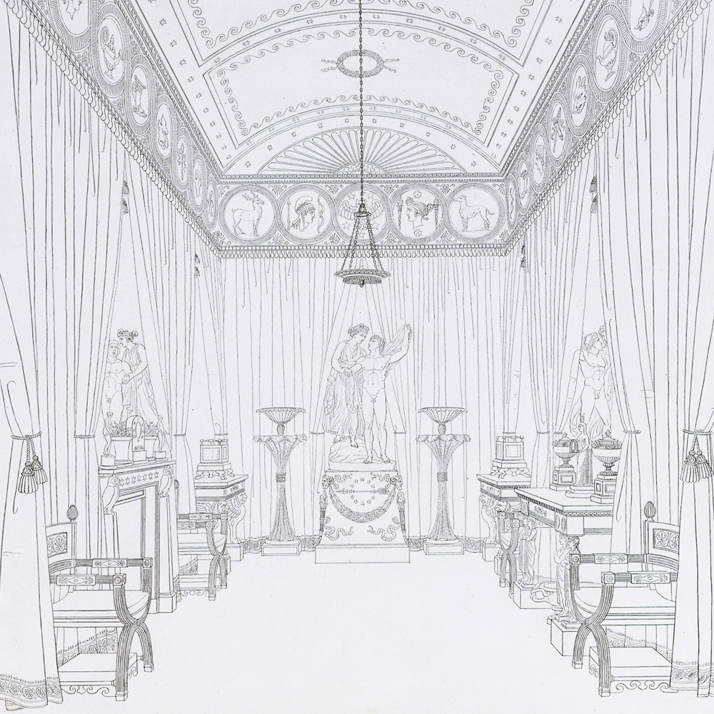 Thomas hope the regency style victoria and albert museum for Design of household furniture